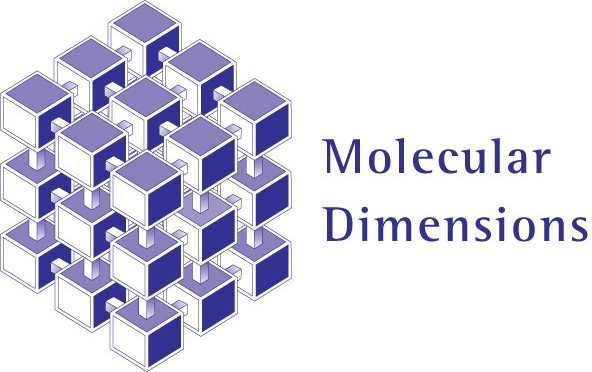 Molecular Dimensions logo - purple and white boxes that form a cube